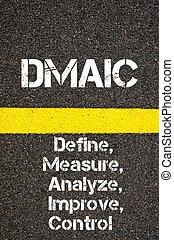 Business Acronym DMAIC Define, Measure, Analyze, Improve, and Control
