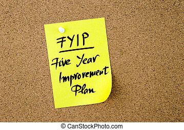Business Acronym FYIP Five Year Improvement Plan