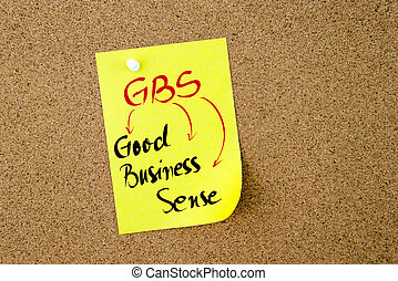 Business Acronym GBS Good Business Sense