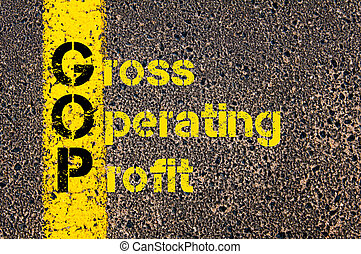 Business Acronym GOP as Gross Operating Profit - Concept...
