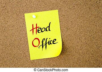 Business Acronym HD Head Office