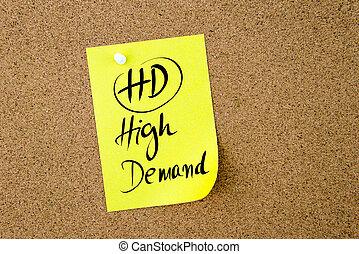 Business Acronym HD High Demand