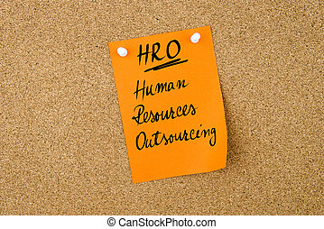 Business Acronym HRO Human Resources OutSourcing