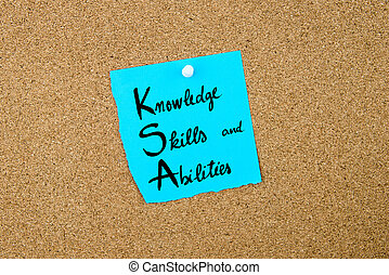 Business Acronym KSA as Knowledge, Skills and Abilities...