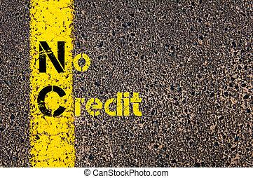 Business Acronym NC as No Credit