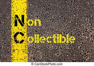 Business Acronym NC as Non Collectible