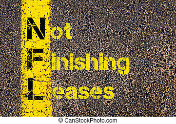 Business Acronym NFL as Not Finishing Leases