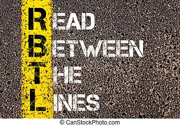 Business Acronym RBTL as Read Between The Lines