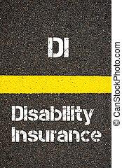 business, acronyme, di, incapacité, assurance