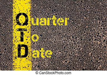 business, acronyme, qtd, date, comptabilité, trimestre