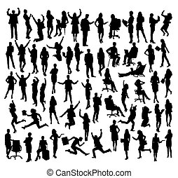 Business Activity Silhouettes, art vector design