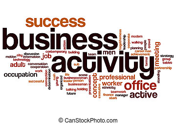 Business activity word cloud