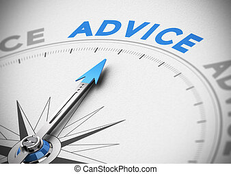 Business Advice Concept - Compass with needle pointing the...
