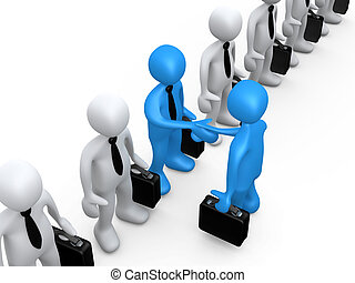 Business Agreement - Businessman shaking hands with the...