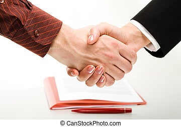 Business agreement - Image of two business people�s...