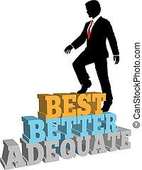 business, amélioration moi, mieux, meilleur homme