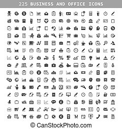 Business an icon - Collection of icons on a theme business...