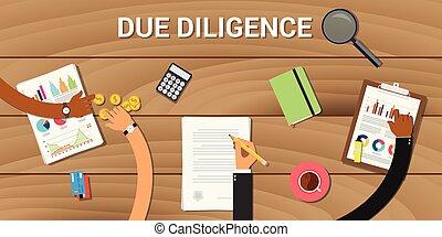 business, analyse, diligence, dû, graphique, données