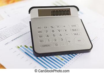 Business analysis - accounting report with calculator
