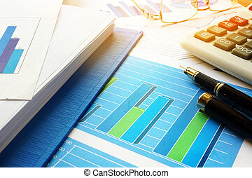 Business analysis and accounting concept.