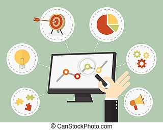 business analysis - Flat design vector illustration business...