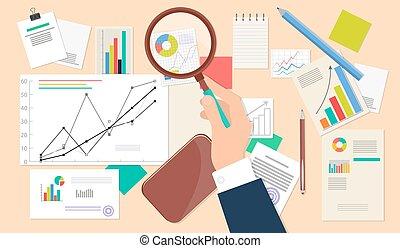 Business Analyst, Financial Data Analysis Web Icon