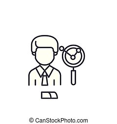 Business Analyst linear icon concept. Business Analyst line vector sign, symbol, illustration.