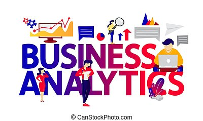 Business analytics and data analysis concept ilustration.
