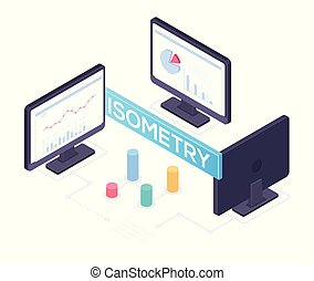 Business analytics concept - modern vector isometric illustration