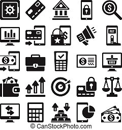 Business and banking icons set