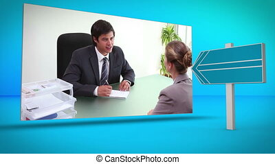Business and call center montage o