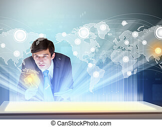 Business and communication innovations - Image of young...