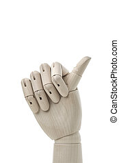 Business and design concept - Mannequin Hand on White ...