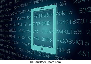 Business and digital technologies illustration.