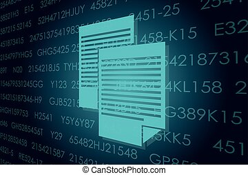 Business and digital technologies illustration. - Vector...