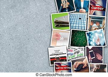 Business and entrepreneurship photo collage