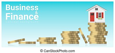 Business and Finance concept background with a little house 1