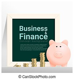 Business and Finance concept background with piggy bank 11