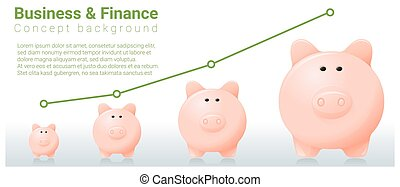 Business and Finance concept background with piggy bank 6