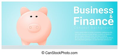 Business and Finance concept background with piggy bank 7