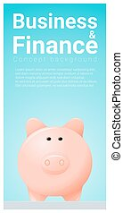Business and Finance concept background with piggy bank 8