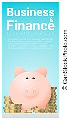 Business and Finance concept background with piggy bank 9