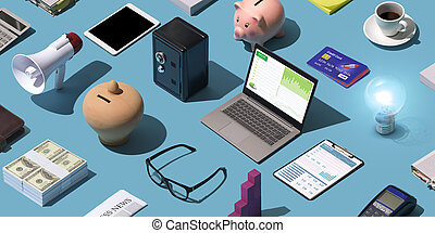 Business and finance desktop
