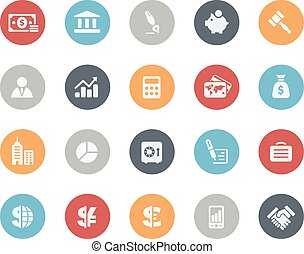 Business and Finance Icons Classics - Vector icons for your...