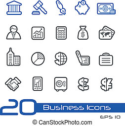 Business and Finance Icons // Line