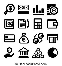 Business and Finance Icons Set. Vector