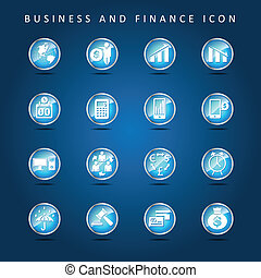 Business and Finance set of icon ve