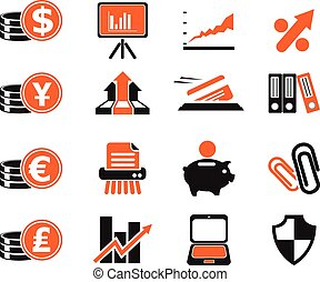 Business and Finance Web Icons