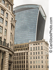 Business and Financial District of London in the UK