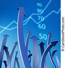 Business and financial growth concept - Arrows pointing up...